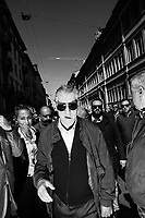MILAN, ITALY - 14 APRIL 2016: Funeral of Gianroberto Casaleggio, co-founder of the Five Stars Movement, at the Basilica of Santa Maria delle Grazie in Milan, Italy, on April 14th 2016.