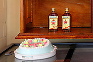 Rum and cake in Ciego de Avila, Cuba.
