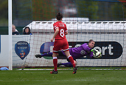 Bristol Academy's Mary Earps in action during the FA Women's Super League match between Bristol Academy Women and Notts County Ladies FC at Stoke Gifford Stadium on 25 April 2015 in Bristol, England - Photo mandatory by-line: Paul Knight/JMP - Mobile: 07966 386802 - 25/04/2015 - SPORT - Football - Bristol - Stoke Gifford Stadium - Bristol Academy Women v Notts County Ladies FC - FA Women's Super League