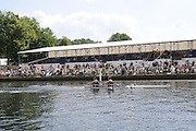 Henley, Great Britain.  Henley Royal Regatta. M2X, Australian Institute of Sport, AIS, AUS, M2X, David CRAWSHAY [Bow], Scott BRENNAN [stroke], pass the Grandstand, on their way to winning the Semi-Final, of the Double Sculls Challenge Cup.River Thames Henley Reach.  Royal Regatta. River Thames Henley Reach.  Saturday  02/07/2011  [Mandatory Credit  Intersport Images] . HRR