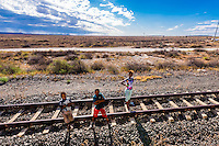 Small town of Kraankuil in the Great Karoo Desert along the train route between Pretoria and Cape Town, South Africa.