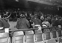 English fans riot at the Ireland v England at Landsdowne Road. Following the Irish goal a riot erupted and the game was abandoned. 15/2/1995 (Part of the Independent Newspapers Ireland/NLI Collection)