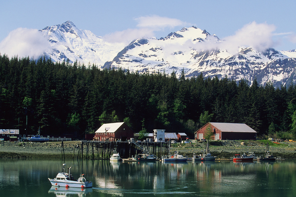Alaska. Haines . Fishing dock.