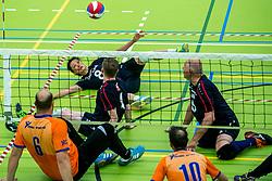 28-04-2018 NED: NK Zitvolleybal, Koog aan de Zaan<br /> BVC Holyoke wint de finale van het NK zitvolleybal met 3-1 van V.a.s. F.D.S uit Sneek. / Hong Zhao #8 of Sneek