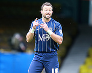 Southend player Noel Hunt passes on instructions during the Sky Bet League 1 match between Southend United and Peterborough United at Roots Hall, Southend, England on 5 September 2015. Photo by Bennett Dean.