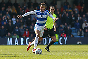 Queens Park Rangers midfielder Jordan Cousins (8) during the EFL Sky Bet Championship match between Queens Park Rangers and Swansea City at the Loftus Road Stadium, London, England on 13 April 2019.