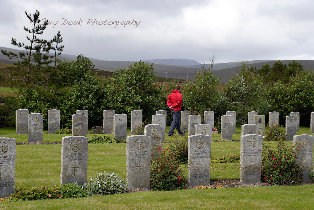 Lyness Naval Cemetery on the Island of Hoy,Orkney Islands,Scotland.