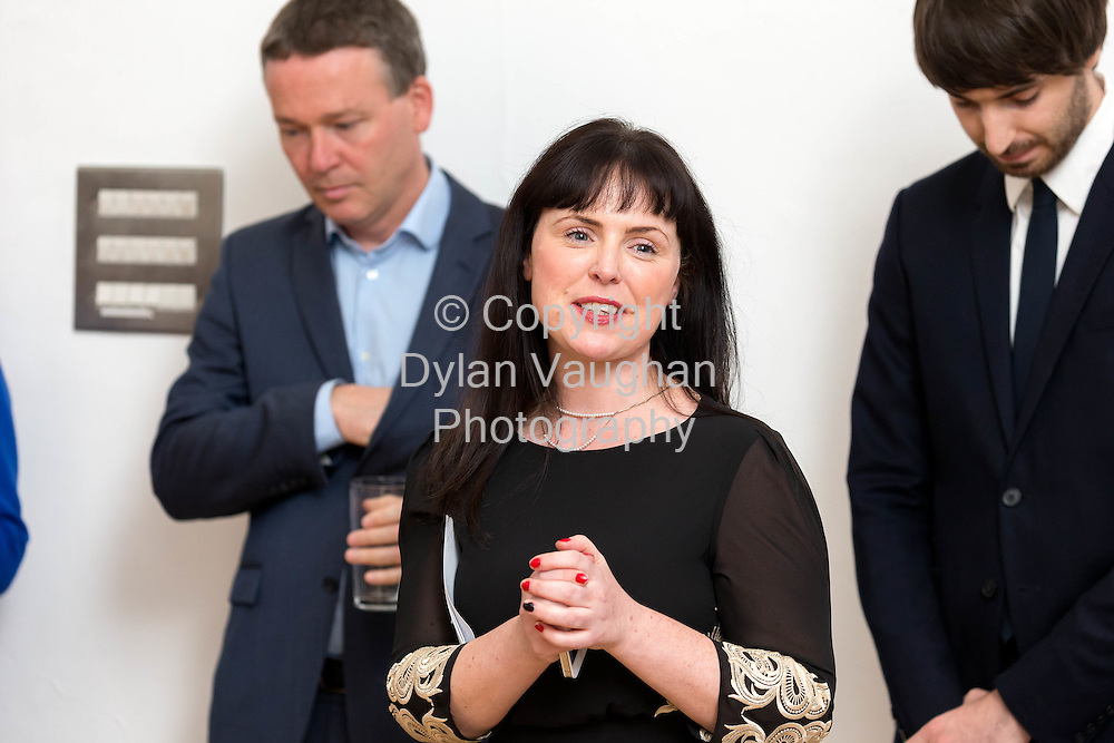 Repro Free No Charge for Repro<br /> <br /> 9-10-15<br /> <br /> Carrie Lynam, Education &amp; Outreach Officer, DCCoI pictured at the opening of &Oacute;, an exhibition of new work from Ireland&rsquo;s leading designers and makers, at the National Craft Gallery, Kilkenny.  Running until 10th January 2016, &Oacute;', meaning &lsquo;from&rsquo; in the Irish language, conveys the story of Ireland as a source of creative ideas and making, and explains how its craft heritage inspires new and contemporary design.<br /> Picture Dylan Vaughan.