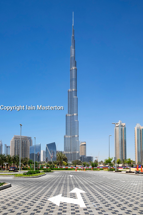 Burj Khalifa tower the world's tallest building in Dubai United Arab Emirates