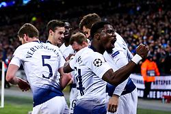 Serge Aurier of Tottenham Hotspur celebrates Fernando Llorente scoring a goal to make it 3-0 - Mandatory by-line: Robbie Stephenson/JMP - 13/02/2019 - FOOTBALL - Wembley Stadium - London, England - Tottenham Hotspur v Borussia Dortmund - UEFA Champions League Round of 16, 1st Leg