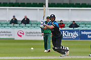 Ross Whiteley drives during the Royal London 1 Day Cup match between Worcestershire County Cricket Club and Nottinghamshire County Cricket Club at New Road, Worcester, United Kingdom on 27 April 2017. Photo by Simon Trafford.