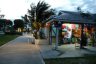 A breezy evening in Lucaya Marketplace, Freeport, Bahamas.