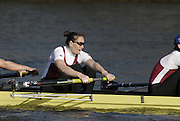 Chiswick. GREAT BRITAIN, Marlow/Rebecca/Tideway Scullers/Thames composite [Cath BISHOP] No. 7, passing  Chiswick pier, during the 2007 Women's Head of the River Race,  raced over the Championship Course, [reverse] on the River Thames, London, on SAT 17.03.2007,  [Photo Peter Spurrier/Intersport Images]  [Mandatory Credit, Peter Spurier/ Intersport Images]. , Rowing Course: River Thames, Championship course, Putney to Mortlake 4.25 Miles,