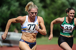 Louise Wood of Trafford AC in the 100m B, UK Women's Athletics League - Premier Division Match 3, Norman Park Bromley, UK on 03 August 2013. Photo: Simon Parker