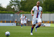 Adlene Guedioura closing down the loose ball during the Pre-Season Friendly match between St Albans FC and Crystal Palace at Clarence Park, St Albans, United Kingdom on 21 July 2015. Photo by Michael Hulf.