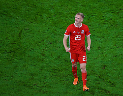 CARDIFF, WALES - Thursday, September 6, 2018: Wales' Matthew Smith after the UEFA Nations League Group Stage League B Group 4 match between Wales and Republic of Ireland at the Cardiff City Stadium. Wales won 4-1. (Pic by Laura Malkin/Propaganda)