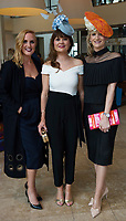 Triona Barrett g Hotel,  Deirdre Hurley,  Garria De Brun<br /> Clare Kelly Badger ,  Roscalm CRB Milinery at The Irish Fashion Innovation Awards 2017 at the Radisson Blu HotelPhoto:Andrew Downes, XPOSURE<br /> <br /> NOTE: <br /> The Irish Fashion Innovation Awards presented by Goldenegg Productions is a contest for fashion designers and fashion students, showcasing the highest expression of creativity from the most innovative designers in Ireland. Recognised as a launching pad for Ireland&rsquo;s most talented, the event attracts entries from promising fashion creatives competing for the prestigious Awards. The Irish Fashion innovation Awards continually aspire to showcase the most cutting-edge designers, giving up-and-coming designers an invaluable connection to the public. The brainchild of Patricia McCrossan of Goldenegg Productions, the Awards give visibility, support and a voice to design talent throughout Ireland, offering an unrivalled opportunity for their work to be shown to a jury made up of fashion design experts. &ldquo;The Goldenegg Irish Fashion Innovation Awards are unique to Ireland. They are seen as providing a rite of passage for many of our top designers as they make their way up the rungs of the fashion ladder. We have a fantastic track record to date with some of Ireland&rsquo;s best-known designers making their national debut at the Goldenegg Irish Fashion Innovation Awards,&rdquo; explains Patricia. Previous winners include Carla Johnson, Natalie B. Coleman, Una Burke, Niamh O&rsquo;Neill, Martha Lynn, Blaithin Ennis and Rebecca Marsden.