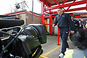 Derby County forward Martyn Waghorn (9) arrives at the stadium during the The FA Cup fourth round match between Accrington Stanley and Derby County at the Fraser Eagle Stadium, Accrington, England on 26 January 2019.