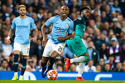 Fernandinho of Manchester City is fouled by Danny Rose of Tottenham Hotspur - Mandatory by-line: Robbie Stephenson/JMP - 17/04/2019 - FOOTBALL - Etihad Stadium - Manchester, England - Manchester City v Tottenham Hotspur - UEFA Champions League Quarter Final 2nd Leg
