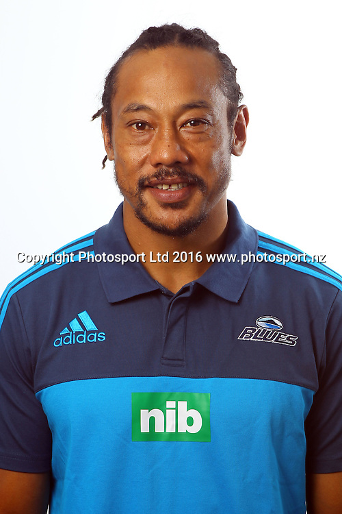 Tana Umaga, Head Coach, Blues 2016 Super Rugby player headshots, Blues headquarters, Auckland. 27 January 2016. Copyright photo: William Booth / www.photosport.nz