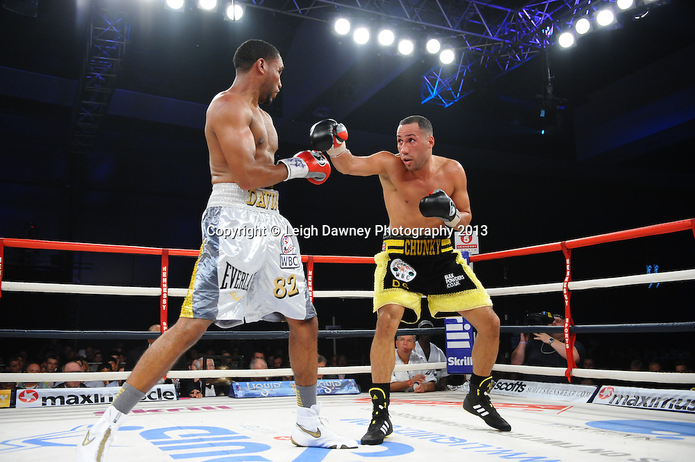 James Degale MBE & Dyah Davis fight for the WBC Silver Super Middleweight title at Bluewater, Kent, UK, 16th November 2013.  Hennessy Sports © Leigh Dawney Photography 2013.