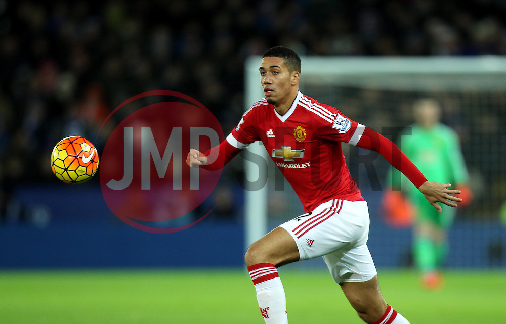 Chris Smalling of Manchester United - Mandatory byline: Robbie Stephenson/JMP - 28/11/2015 - Football - King Power Stadium - Leicester, England - Leicester City v Manchester United - Barclays Premier League