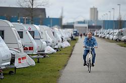 DK caption:<br /> Herning, Danmark, 20140221: <br /> MCH Messe, Ferie for alle.   Campingpladsen<br /> Foto: Lars Møller<br /> UK Caption:<br /> Herning, Denmark, 20140221: <br /> MCH Fair, Ferie for alle.   Campingpladsen<br /> Photo: Lars Moeller