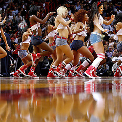 March 3, 2011; Miami, FL, USA; Miami Heat dancers perform during the first half of a game against the Orlando Magic at the American Airlines Arena. The Magic defeated the Heat 99-96.    Mandatory Credit: Derick E. Hingle