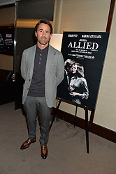 JAY RUTLAND at a screening of Paramount Pictures 'Allied' hosted by Rosie Nixon of Hello! Magazine at The Bulgari Hotel, 171 Knightsbridge, London on 23rd November 2016.
