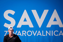 Markus Eriksson (SWE) play against Anze Arh (SLO) at ATP Challenger Zavarovalnica Sava Slovenia Open 2018, on August 5, 2018 in Sports centre, Portoroz/Portorose, Slovenia. Photo by Urban Urbanc / Sportida