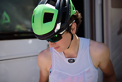 Malgorzata Jasinska prepares for Stage 5 of the Giro Rosa - a 12.7 km individual time trial, starting and finishing in Sant'Elpido A Mare on July 4, 2017, in Fermo, Italy. (Photo by Sean Robinson/Velofocus.com)