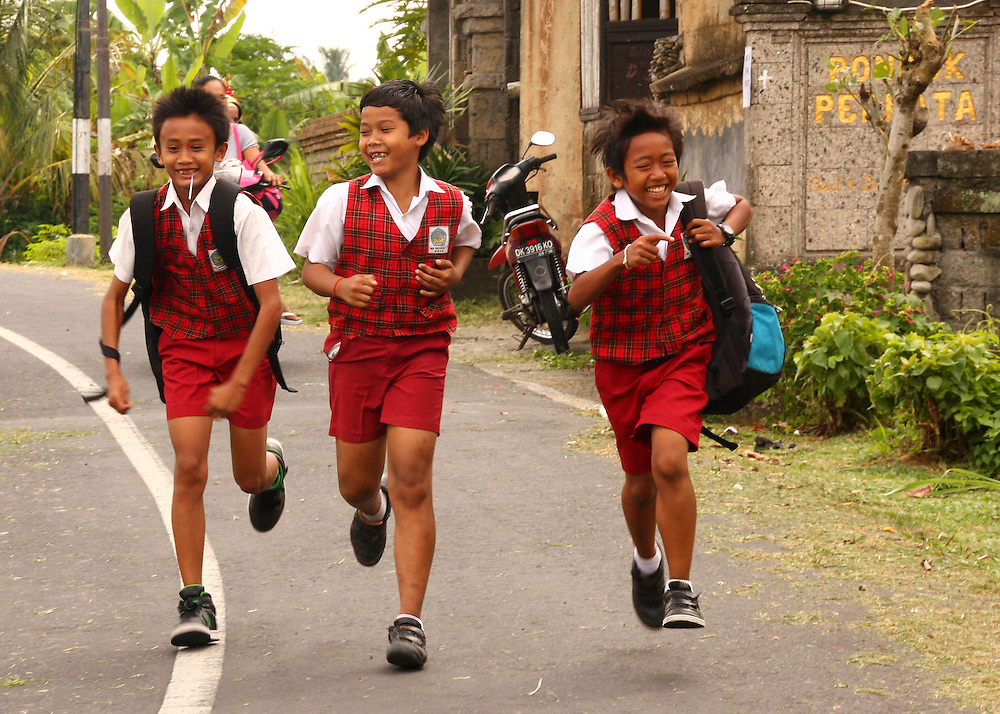 School boys in Bali, Indonesia