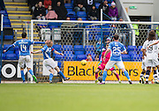 St Johnstone&rsquo;s Steven Anderson opens the scoring  - St Johnstone v Dundee, Ladbrokes Scottish Premiership at McDiarmid Park, Perth. Photo: David Young<br /> <br />  - &copy; David Young - www.davidyoungphoto.co.uk - email: davidyoungphoto@gmail.com