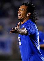 20090527: BELO HORIZONTE, BRAZIL - Cruzeiro vs Sao Paulo: Copa Libertadores 2009. In picture: Ze Carlos (Cruzeiro) celebrating goal. PHOTO: CITYFILES