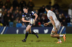 Freddie Burns of Bath Rugby in possession - Mandatory byline: Patrick Khachfe/JMP - 07966 386802 - 06/12/2019 - RUGBY UNION - The Recreation Ground - Bath, England - Bath Rugby v Clermont Auvergne - Heineken Champions Cup