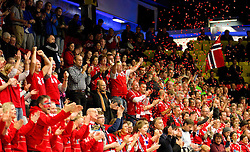 15.01.2011, Norrkoping, SWE, IHF Handball Weltmeisterschaft 2011, Herren, Ungarn vs Norwegen im Bild, // Fans from Norge Norway // during the IHF 2011 World Men's Handball Championship match Hungary vs Norway at Norrkoping. EXPA Pictures © 2010, PhotoCredit: EXPA/ Skycam/ Emanuel Winblad +++ATTENTION+++ out of Sweden (SWE)
