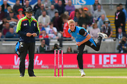 Luke Wood of Worcestershire bowling during the Vitality T20 Finals Day Semi Final 2018 match between Worcestershire Rapids and Lancashire Lightning at Edgbaston, Birmingham, United Kingdom on 15 September 2018.