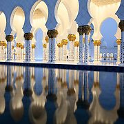 The stunning Sheikh Zayed Grand Mosque, Abu Dhabi