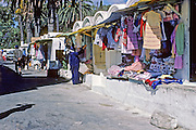 AFRICA; MOROCCO; TANGIER:  Market street in Tangier.