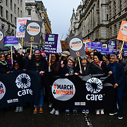 Shola Mos-Shogbamimu, Sandi Toksvig, Bianca Jagger, Sadiq Khan, Lapsley join March4Women 2020, on 8 March 2020, London, UK