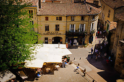 Looking out over Saint Emilion from the terrace at the cathedral<br /> <br /> (c) Andrew Wilson | Edinburgh Elite media