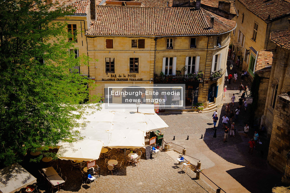 Looking out over Saint Emilion from the terrace at the cathedral<br /> <br /> (c) Andrew Wilson   Edinburgh Elite media