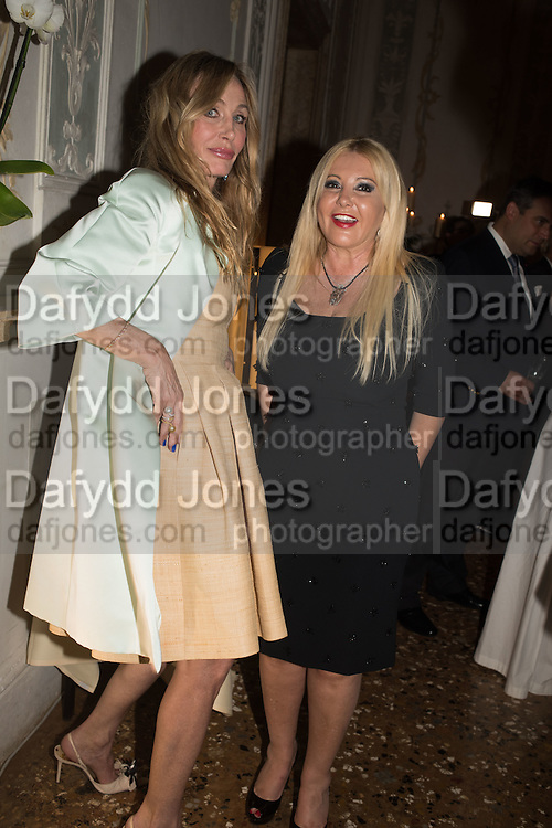 Dinner for Sonia Falcone to celebrate her participation in 56th Venice Biennale she represented Bolivia at the Pavilion of the Instituto Italo-Latinoamericano at the Arsenale. Dinner at the Ridotto Ballroom, Hotel Monaco and Grand Canal, Venice, Venice Biennale, Venice. 8 May 2015