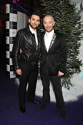Left to right, AHMED EL-ALFI and SCOTT HENSHALL at La Dolce Vita Christmas Ball in aid of DeBRa held at Battersea's Evolution, Battersea Park, London on 12th December 2007.<br />