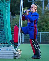 AMSTELVEEN - keeper Anne Veenendaal (A'dam)  tijdens de  training van de dames van Amsterdam (AH&BC) voor de eerste competitiewedstrijd. COPYRIGHT KOEN SUYK