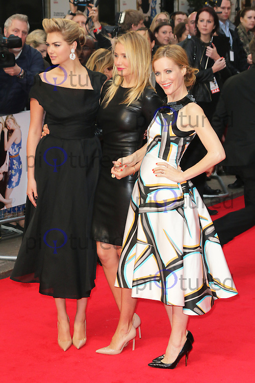 Kate Upton; Cameron Diaz; Leslie Mann, The Other Woman - UK Gala Screening, Curzon Mayfair, London UK, 02 April 2014, Photo by Richard Goldschmidt