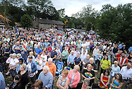 Over 400 people attended the candlelight vigil in support of the victims of the Orlando massacre Monday, June 13, 2016 in New Hope, Pennsylvania.   (Photo by William Thomas Cain)