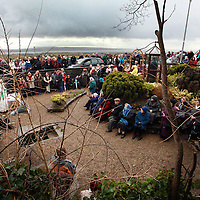 A scene from the annual St, Bridget's Day mass celebrations in Liscannor yesterday.<br /> Photograph by Yvonne Vaughan