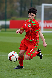 NEWPORT, WALES - Sunday, April 3, 2016: Wales' Emily Jones in action against Northern Ireland during Day 3 of the Bob Docherty International Tournament 2016 at Dragon Park. (Pic by David Rawcliffe/Propaganda)