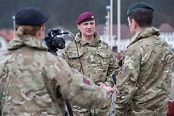 Image shows Lieutenant Hedley French, officer in command of Exercise Civil Bridge being interview by a Mobile News Team from the Media Operations Group in the town of Maglaj in northern Bosnia &amp; Herzegovina. 12/03/2015.<br /> <br /> Credit should read: Cpl Mark Larner, Media Ops Group<br /> <br /> Exercise Civil Bridge is an exercise in support of UK Defence Engagement by elements of 77 Brigade. Civil Bridge 14B (CB14B) is being conducted Sarajevo, Bosnia &amp; Herzegovina (BiH).<br /> <br /> By assisting the BiH Government to develop their contingency plans for natural disasters at both strategic and operational levels, CB14B will contribute to the long term international effort to stabilise BiH ethnic groups and authorities.